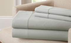 400 Thread Count Single Hole Hem Sheet Set 100% cotton - Silver