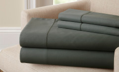 400 Thread Count Single Hole Hem Sheet Set 100% cotton - Charcoal