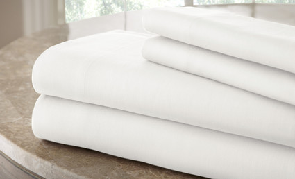 200 Thread Count Solid Sheet Set 100% cotton - White