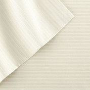 400 Thread Count Pinstripe Sheet Set 100% tencel - Ivory