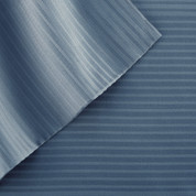 400 Thread Count Pinstripe Sheet Set 100% tencel - Denim Blue