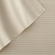 400 Thread Count Pinstripe Sheet Set 100% tencel - Tan