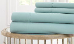 1000 Thread Count Solid Sheet Set 100% cotton - Celestial Blue