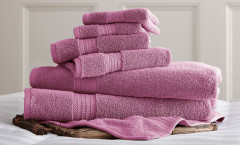 Luxury Spa Collection 6 piece towel SET - Violet