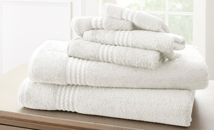 Bamboo Collection 6 piece towel SET - White