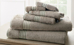 Bamboo Collection 6 piece towel SET - Grey