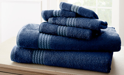 Bamboo Collection 6 piece towel SET - Navy Blue