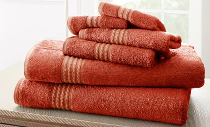 Bamboo Collection 6 piece towel SET - Marsala