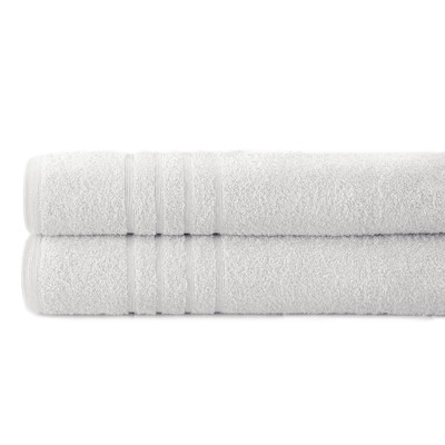 Spa Collection 2 piece OVERsized bath towel SET - White