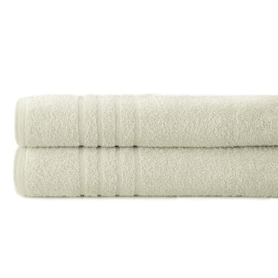 Spa Collection 2 piece OVERsized bath towel SET - Ivory