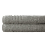 Spa Collection 2 piece OVERsized bath towel SET - Silver