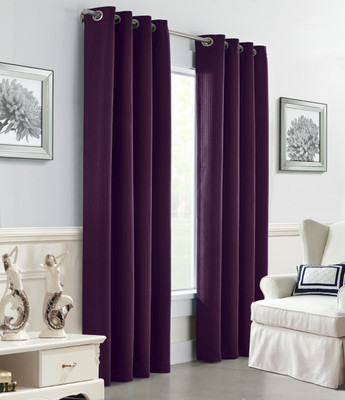 Darcy Insulated Grommet Top Curtain Panel - Aubergine