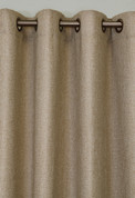 Faux Jute Grommet Top Curtain Panel - Oatmeal