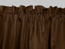 Contrail Insulated Rod Pocket Curtain - Chocolate
