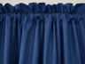 Contrail Insulated Rod Pocket Curtain pair - Navy Blue