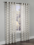 Madison Burnout Grommet Top Curtain Panel - Taupe