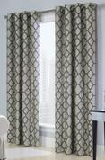 Clover Grommet Top Curtain Panel - Navy