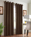 Navar Total Blackout Grommet Top Curtain Panel - Brown