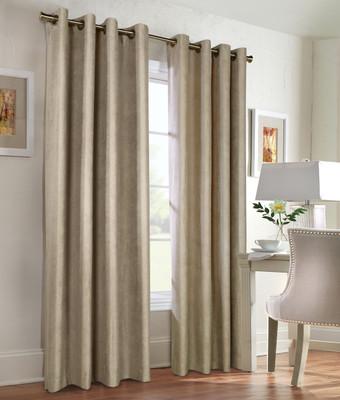 Navar Total Blackout Grommet Top Curtain Panel - Taupe