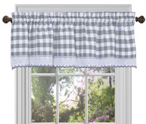 Buffalo Check Valance - Grey
