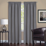 Harmony Blackout Rod Pocket Curtains - Grey