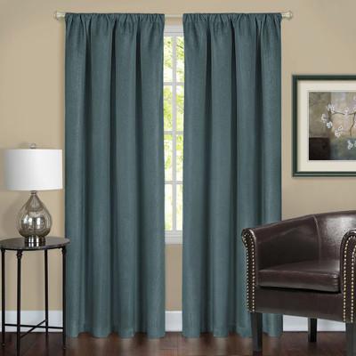 Harmony Blackout Rod Pocket Curtains - Teal