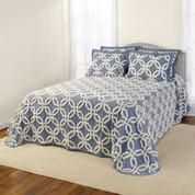 Holden Chennile Bedspreads - Harbor Blue