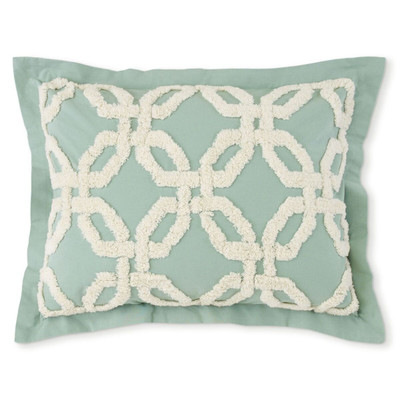 Holden Chenille Pillow Sham - Mist Green