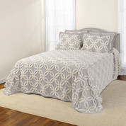Holden Chenille Bedspread - Silver