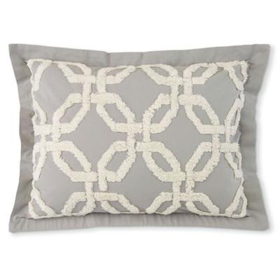 Holden Chenille Pillow Sham - Silver