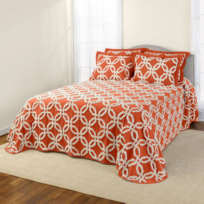 Holden Chenille Bedspread - Spice