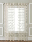 Amelia Macrame Grommet Top Curtain Panel - Ivory