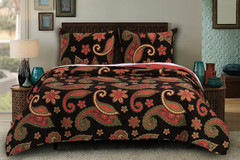Midnight Paisley Quilt Set