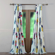 Dream Catcher tab top curtain pair