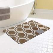 Monaco Bath Rug - Brown