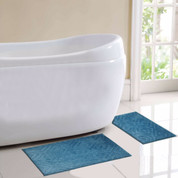 Milan Bath Rug 2 piece SET - Blue