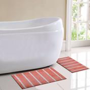 Madrid Bath Rug 2 piece SET - Coral