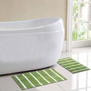 Madrid Bath Rug 2 piece SET - Green