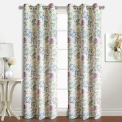 Christine Floral Grommet Top Curtain pair from United Curtain