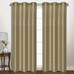 Vintage Faux-Silk Blackout Grommet Top Curtain pair - Taupe from United Curtain