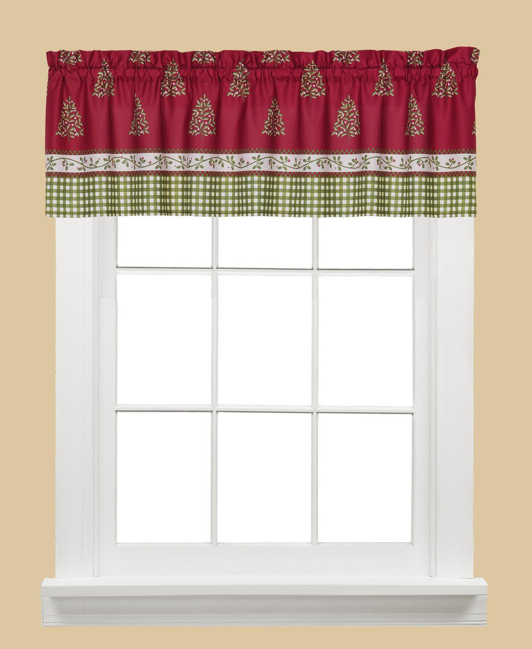 Hometown Holiday Christmas Kitchen Curtain Valance