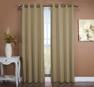 Tacoma Double Blackout Grommet Top Curtain Panel - Driftwood (2 panels shown)