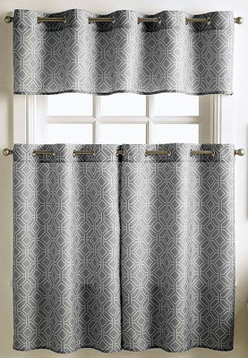 Neiva Kitchen Curtain grey