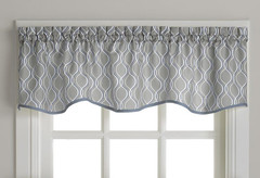 Morocco kitchen curtain valance - Grey from CHF