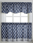 Morocco Kitchen Curtain - Navy from CHF