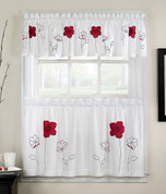 Poppy Garden Kitchen Curtain - Red from CHF