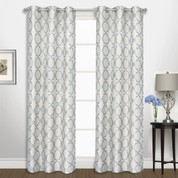 Georgia Grommet Top Curtain pair - Blue