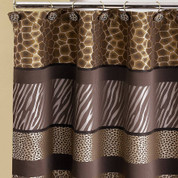 Safari Stripes Shower Curtain (hooks not included) from Popular Bath