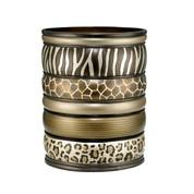 Safari Stripes Wastebasket from Popular Bath