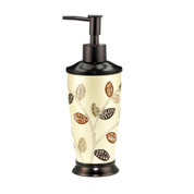 Aubury Lotion Dispenser - Beige lotion dispenser from Popular Bath